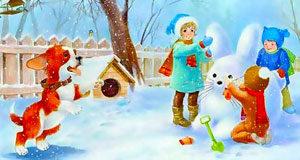 Лексико-грамматические упражнения и речевые игры по теме «Зима»
